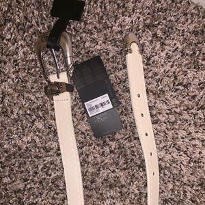 White forever 21 belt